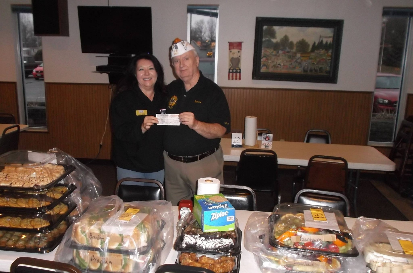 Food donated on Christmas Eve to the USO on Wright Patterson Air Force Base